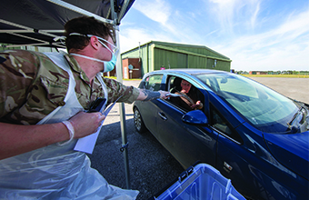 Mobile testing units to target frontline workers