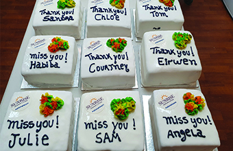 Home surprises staff with personalised cakes