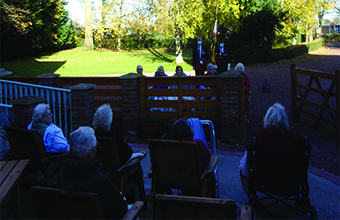 Residents mark Remembrance Day with the Royal British Legion