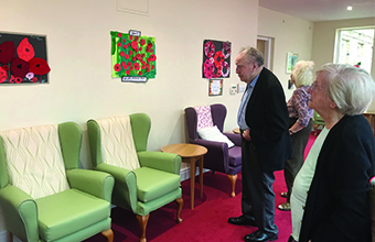 Home marks Remembrance Day with intergenerational art project
