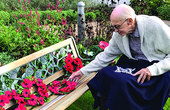 Veterans pay respects at care homes