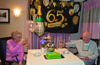 Couple celebrate 65th wedding anniversary at care home