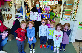 Care home wishes local children a 'hoppy' Easter