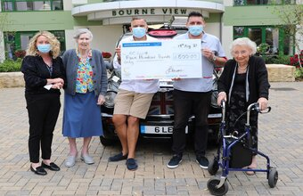 Taxi! Dorset care home residents peruse unusual cab for charity