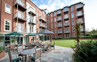 Residents and supporters celebrate the opening of new retirement development