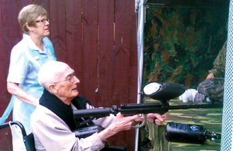 Home proves you are never too old to paintball