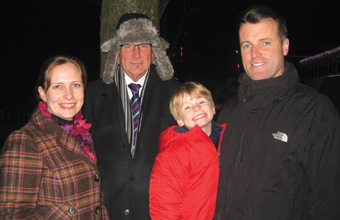 Care team support start of Christmas lights switch-on