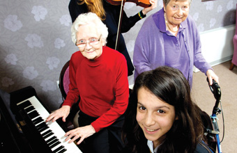 Girls perform recital at Timperley care home