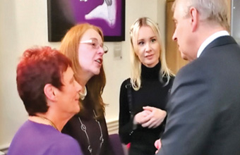 A right royal visit for staff at Middlesex care home
