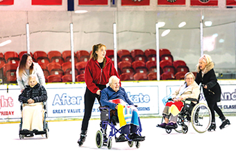 Residents get their skates on for ice rink trip